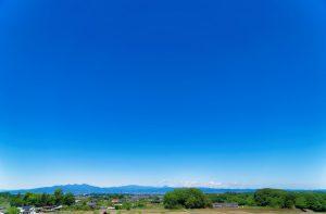 花園むさしの浄苑から見える風景・本庄市・赤城山・日光連山・筑波連山