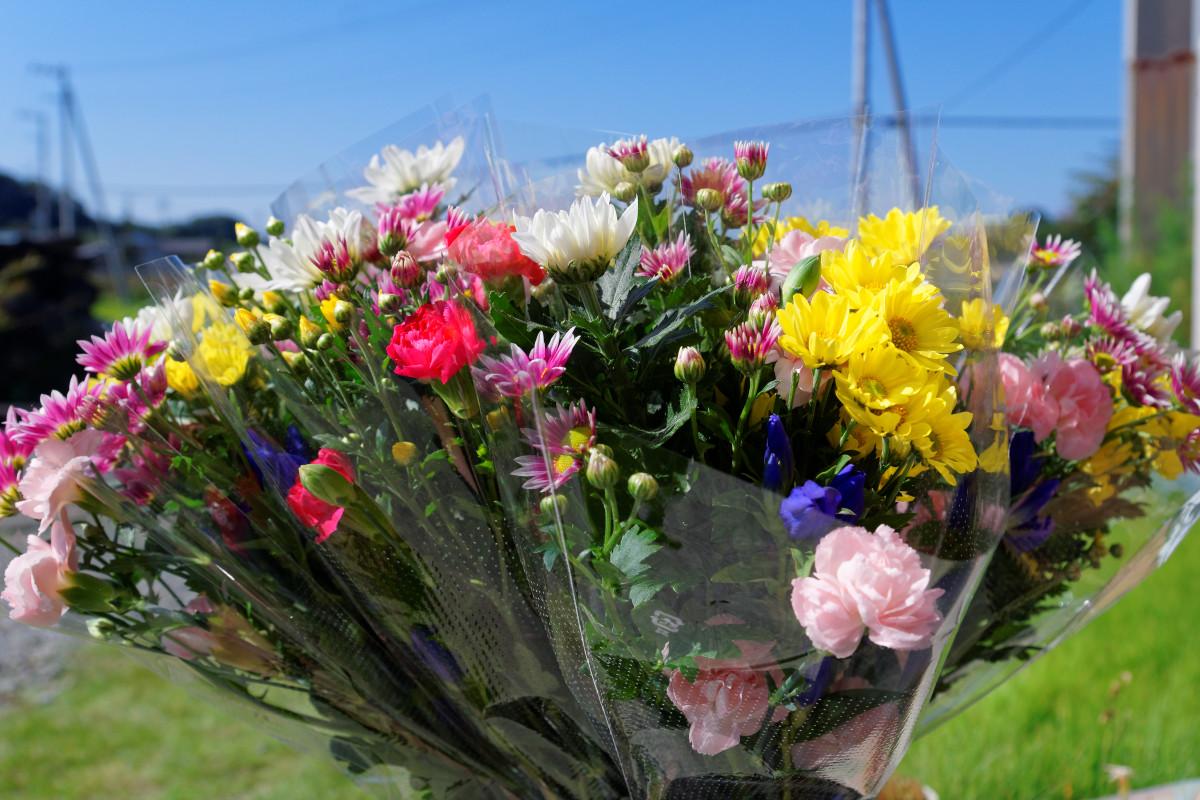 霊園墓参用生花