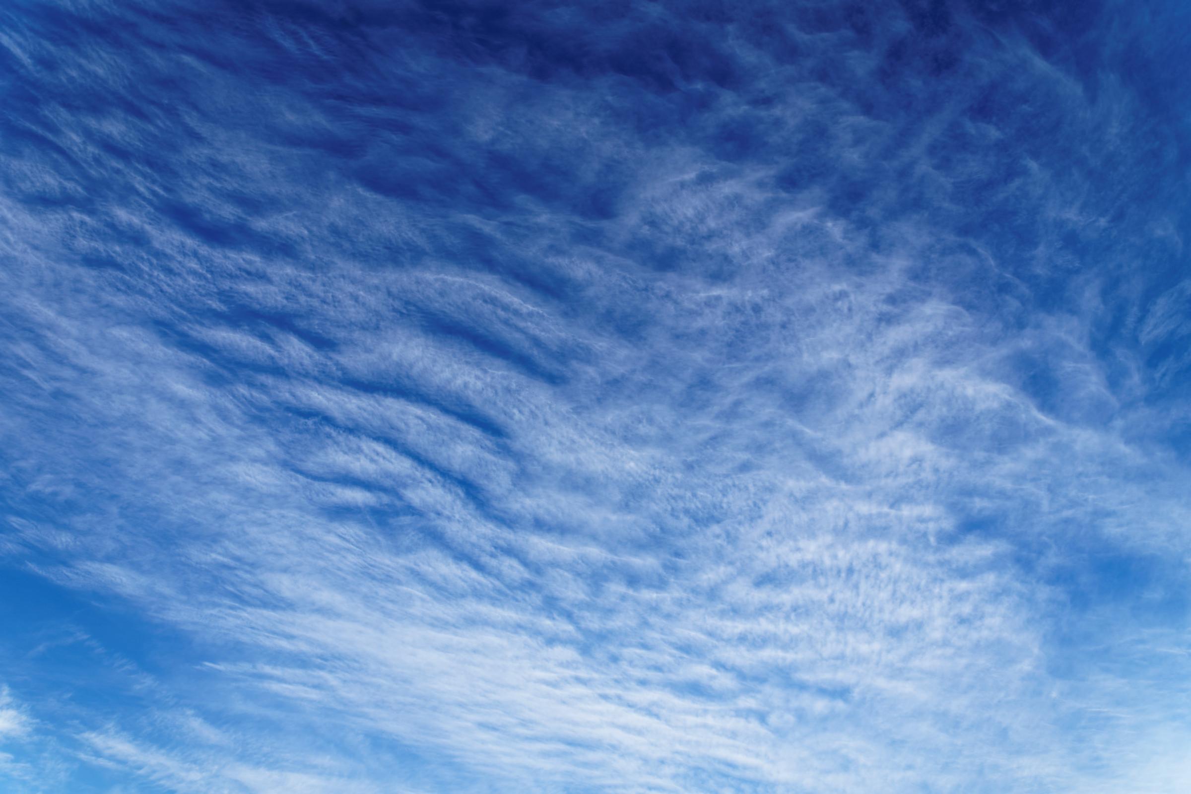 霊園上空の青空